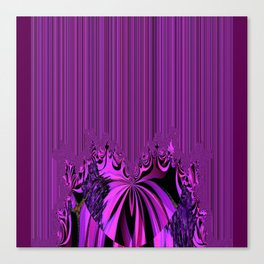 Neon Heart and Stripes Canvas Print