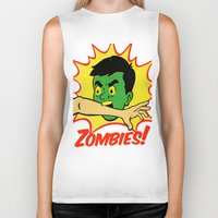 zombies Biker Tanks featuring Zombies! by Derek Eads