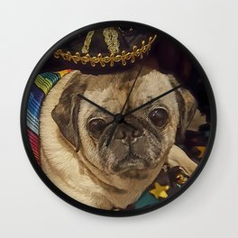 Cinco De Puggo Pug Wall Clock