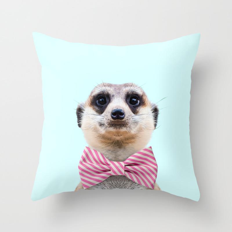 Meerkat Throw Pillow By Paulfuentes Society6