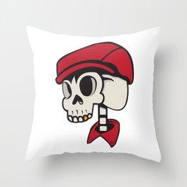 SkullChap Throw Pillow