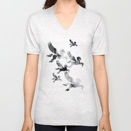 Facing Pegasus Unisex V-Neck