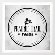 Prairie Trail Park Art Print