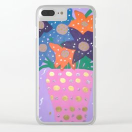 Fiesta Flowers Modern Still Life Clear iPhone Case