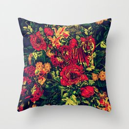 Vivid Jungle Throw Pillow
