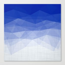 Imperial Lapis Lazuli - Triangles Minimalism Geometry Canvas Print