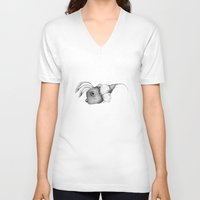 edgar allan poe V-neck T-shirts featuring Edgar Allan Poe by Andreas Derebucha