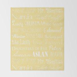 Narnia Celebration- shortbread Throw Blanket
