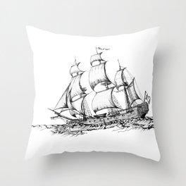 sailing ship . Home decor Graphicdesign Throw Pillow