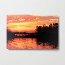 Sunset on the Lake, Russia Metal Print