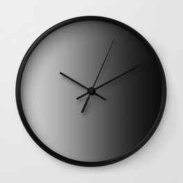Gray to Black Vertical Linear Gradient Wall Clock