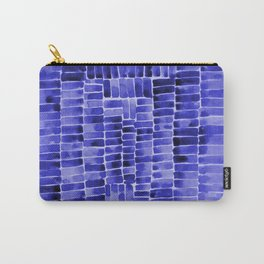 Watercolor abstract rectangles - blue Carry-All Pouch