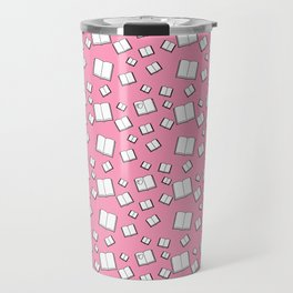 Flying Books Pink Travel Mug