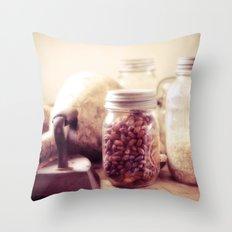 Grandma's pantry Throw Pillow