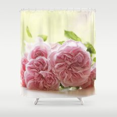Wonderful pink Roses in LOVE - Vintage Rose Stilllife Photography Shower Curtain