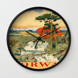 Vintage poster - Norway Wall Clock