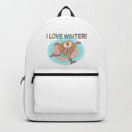 I Love Winter Girl Backpack