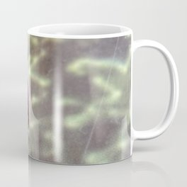 Snail on hard-to-eat lettuce - On glass-covered ad of vegetables Coffee Mug