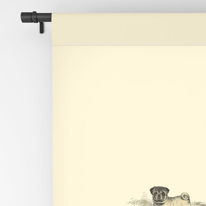 PUG DOGS Illustration Blackout Curtain