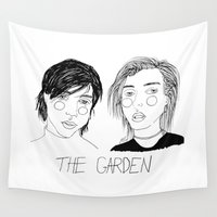 cactei Wall Tapestries featuring The Garden by ☿ cactei ☿