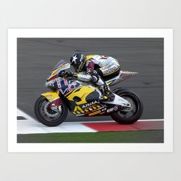 MotoGP - SCOTT REDDING Art Print