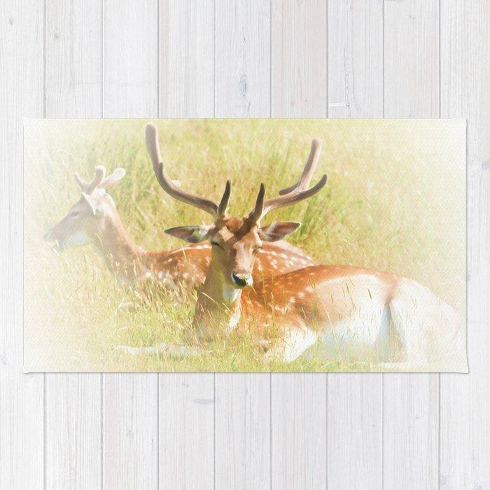 Deer at rest Rug