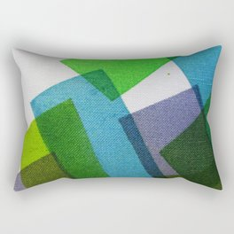 Composition Teal, Green and Violet Rectangular Pillow