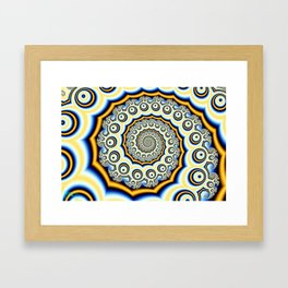 Spiral trig tree Framed Art Print