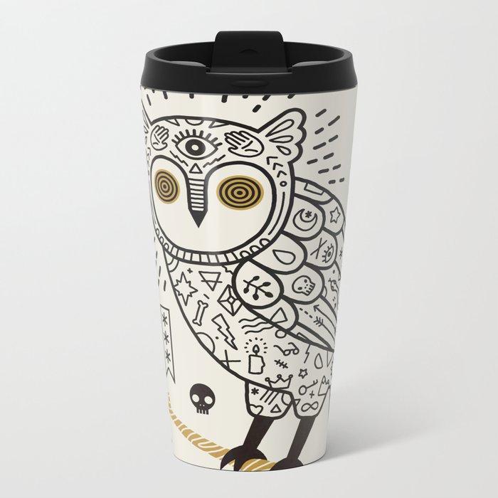 Hypno Owl Metal Travel Mug