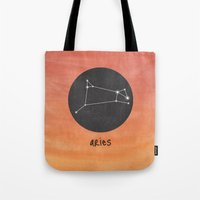 aries Tote Bags featuring Aries by snaticky