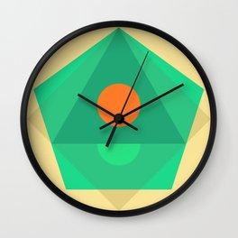 Soft Pastel Wall Clock