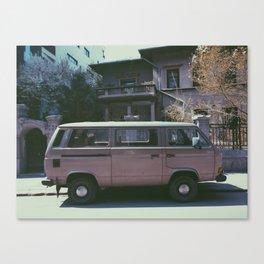 Van in spring Canvas Print