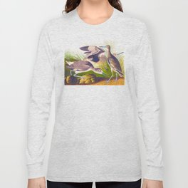 Semipalmated Snipe, or Willet Bird Long Sleeve T-shirt