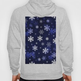 Dark Blue Snowflakes Hoody