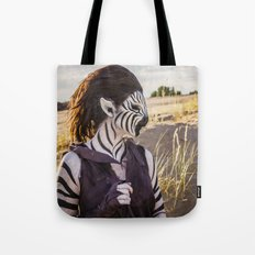 Zebra Girl Tote Bag