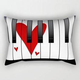 Love Piano Rectangular Pillow