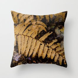 Fall Fern Color Throw Pillow