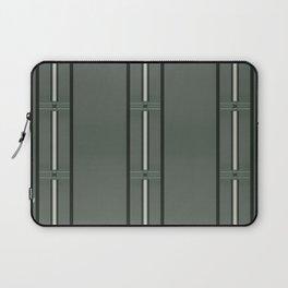Olive Green Bar Stripes Laptop Sleeve