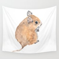 mouse Wall Tapestries featuring Mouse by ThimbleSparrow