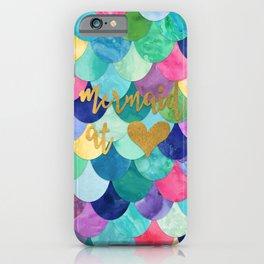 Mermaid at Heart iPhone Case
