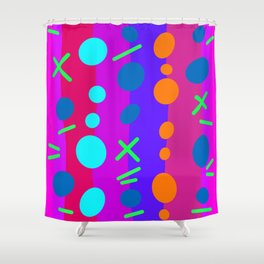 Party Time / Red Shower Curtain