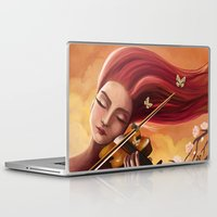 violin Laptop & iPad Skins featuring Violin by Negin Armon