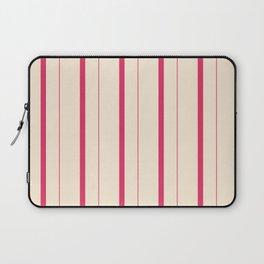 Cerise and Antique White Stripes Laptop Sleeve