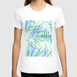 Underwater Forest #2 -Line drawing leaves T-shirt