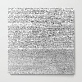 The Rosetta Stone Metal Print