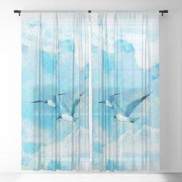 Flying birds Sheer Curtain