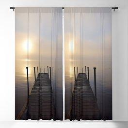 Soft Sunrise on a Misty Adirondack Morning Blackout Curtain
