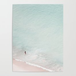 The Black Bikini - Aerial Beach and Ocean photography by Ingrid Beddoes Poster