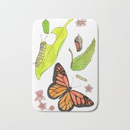 Monarch Life Cycle Bath Mat