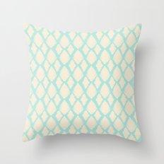 Creamy Blue iKat Throw Pillow